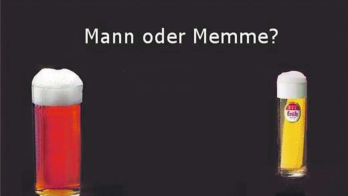 Junge Werbung für Altbier | Rhein Wupper