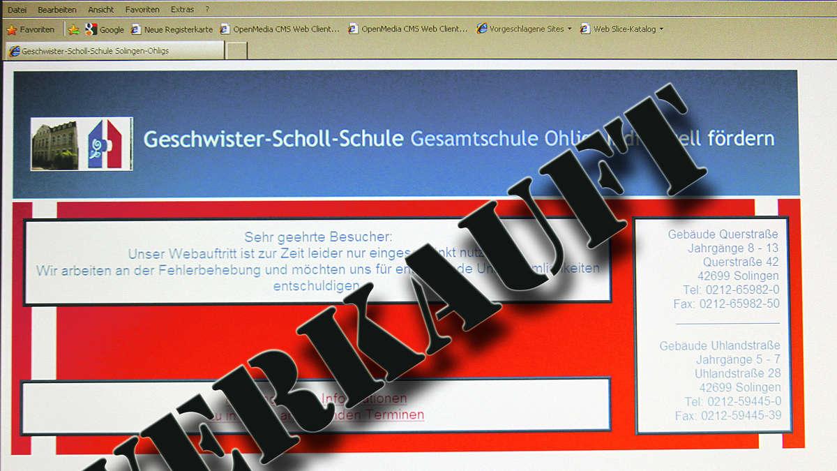 5 Favorieten 8 : Schul internetseiten zum verkauf angeboten solingen
