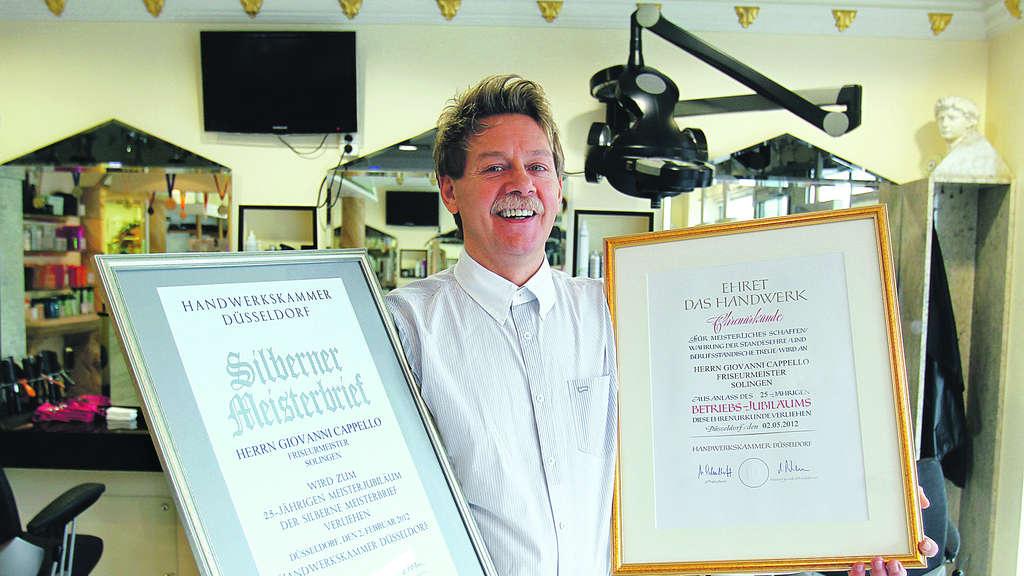 Kurz nach dem silbernen Meisterbrief gab es für Giovanni Cappello die  Auszeich-nung fürs 25 9abfbb1e280c
