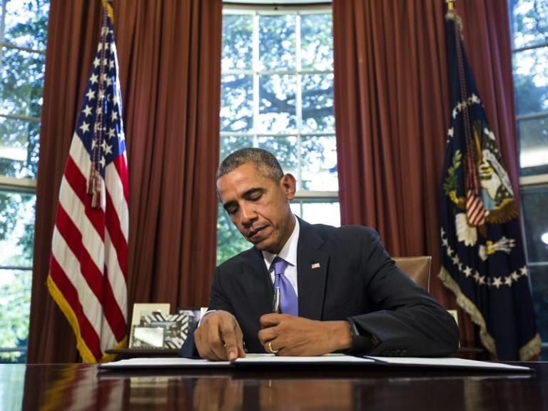 US-Präsident Barack Obama im Oval Office des Weißen Hauses. Foto: Jim Lo Scalzo