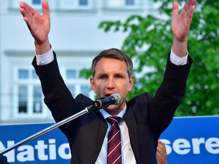 AfD demonstriert in Erfurt