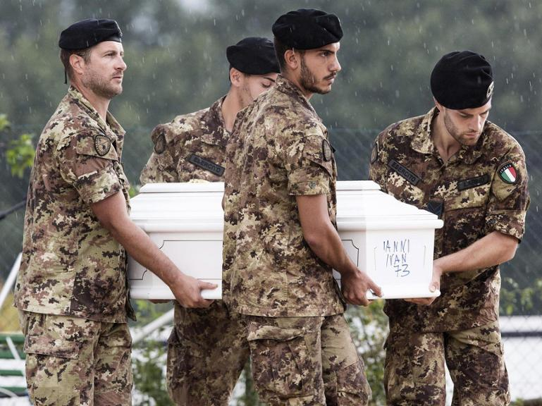 state funeral in Amatrice after quake
