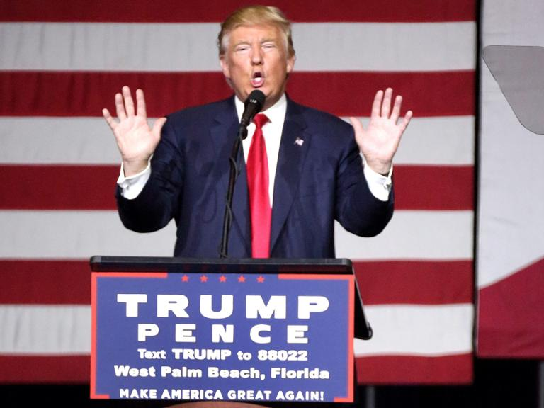 Donald Trump am Donnerstag in Florida,