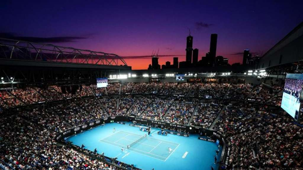 Der Center Court der Australian Open in Melbourne. Foto: Dave Hunt/AAP/dpa